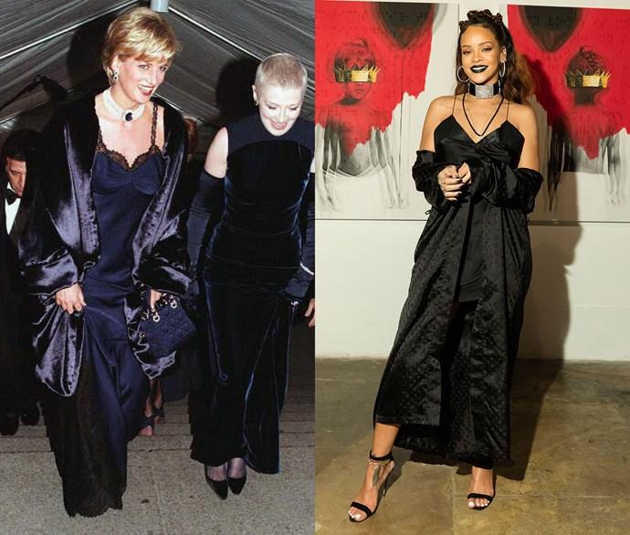 Diana, Princess of Wales, and Rihanna.