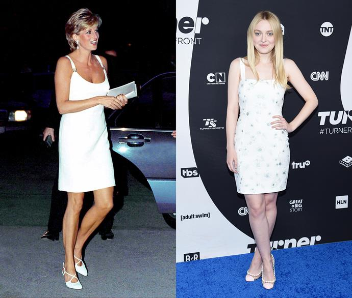 Diana, Princess of Wales, and Dakota Fanning.