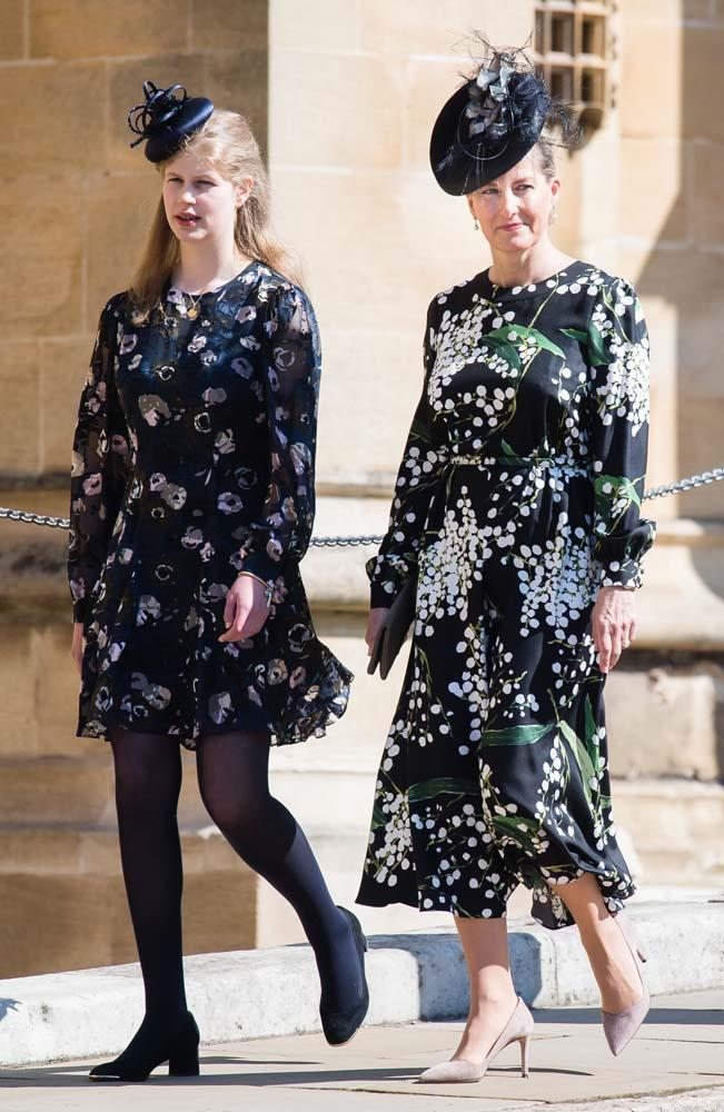 Lady Louise Windsor and Sophie, Countess of Wessex.
