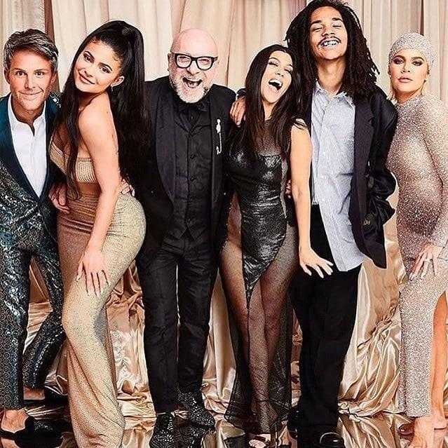 Kylie Jenner, Kourtney Kardashian, Luka Sabbat and Khloé Kardashian.