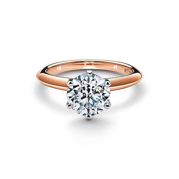 """Rose gold Tiffany® Setting engagement ring, $3,000 at [Tiffany & Co.](https://www.tiffany.com.au/engagement/engagement-rings/the-tiffany-setting-engagement-ring-in-18k-rose-gold-GRP10861/