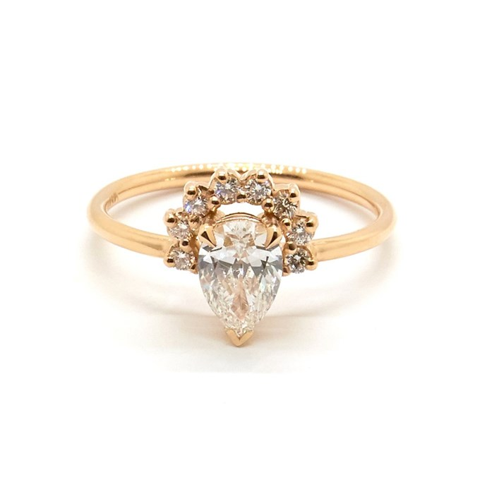 """Rose ring in rose gold, $7,640 at [Natalie Marie Jewellery](https://www.nataliemariejewellery.com/collections/engagement-rings/products/rose-ring-diamond