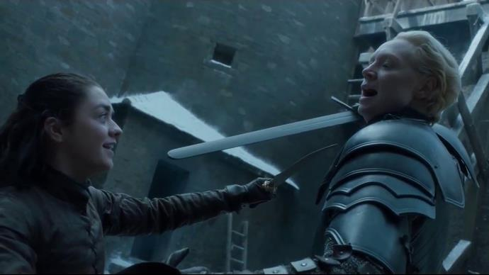 ***Arya's dagger trick***<br><br> In what may have been the best moment all season—or all series, if you like—Arya Stark managed to kill the Night King in the final scene with one of her [assassin moves](https://www.elle.com.au/culture/game-of-thrones-arya-night-king-reactions-20354). <br><br> After the Night King grabbed and stopped her mid-jump, trapping her hand with the dagger, she dropped it into her left, stabbing him and ultimately killing him. <br><br> Fans of the show might recognise this move—Arya used it when she was training with Brienne in season seven, after returning to Winterfell.<br><br> Now we know all that training comes in handy. See both moments in the videos below.