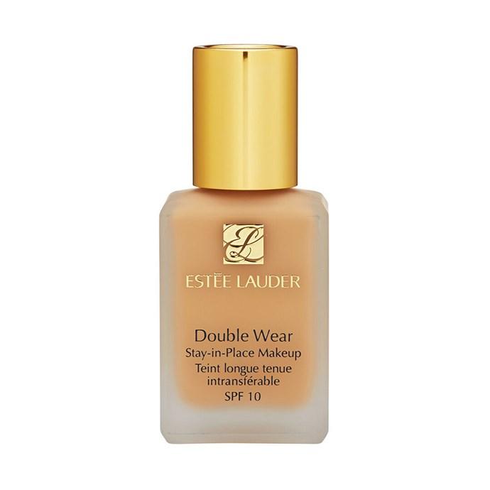 "Estee Lauder Double Wear Stay In Place Makeup, $58 at [Adorebeauty](https://www.adorebeauty.com.au/estee-lauder-double-wear-makeup.html|target=""_blank""|rel=""nofollow"")"