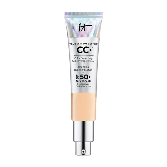 """It Cosmetics Your Skin But Better™ CC+™ Cream SPF 50, $61 at [Sephora](https://www.sephora.com.au/products/it-cosmetics-your-skin-but-better-cc-plus-cream-spf-50/v/fair