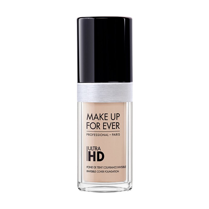 """Make Up For Ever Ultra HD Invisible Cover Foundation, $67 at [Sephora](https://www.sephora.com.au/products/make-up-for-ever-ultra-hd-foundation/v/y215-yellow-alabaster