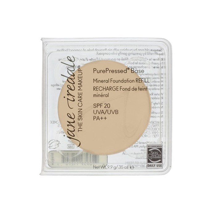 """Jane Iredale PurePressed Pressed Minerals, $62.90 at [Adorebeauty](https://www.adorebeauty.com.au/jane-iredale/jane-iredale-purepressed-pressed-minerals-refill.html