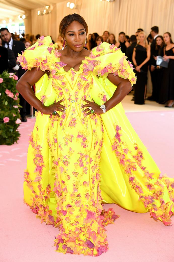 Serena Williams in Versace.