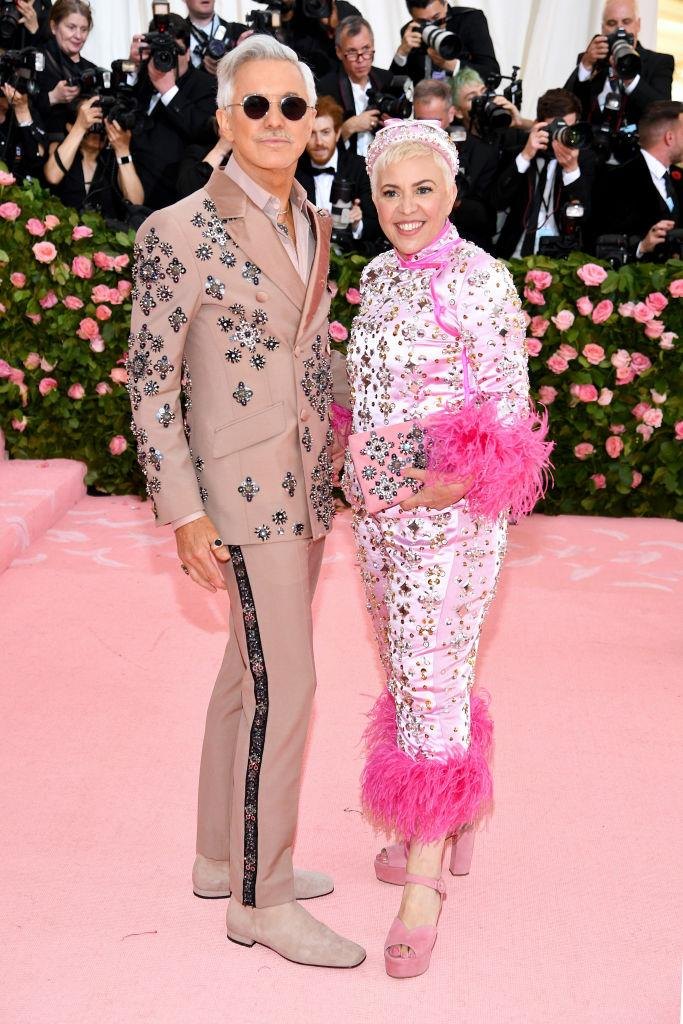 Baz Luhrmann and Catherine Martin, both in Prada.