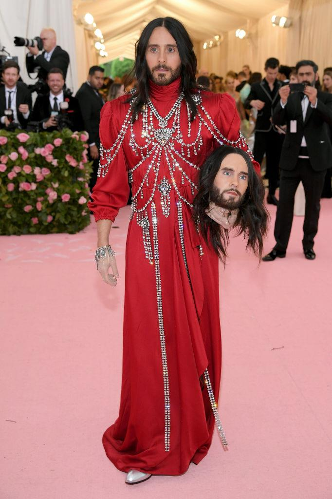 Jared Leto in Gucci.