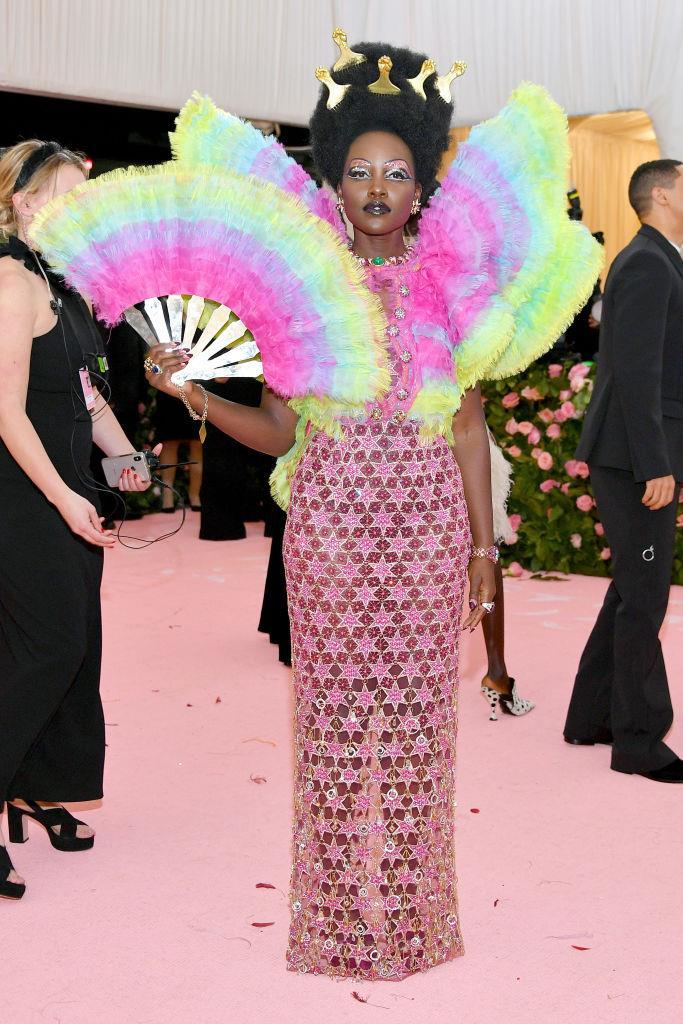 Lupita Nyong'o in Versace.