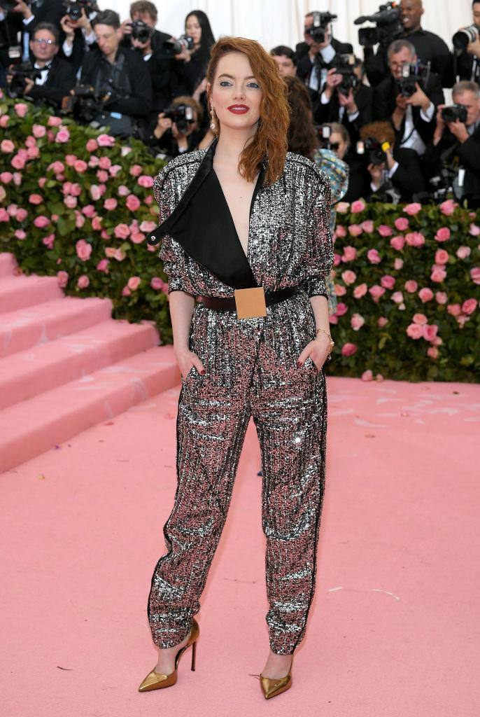 Emma Stone, in Louis Vuitton.