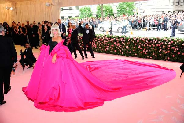 "**Lady Gaga in Brandon Maxwell** <br><br> ""I'm sure Lady Gaga's dress could be fashioned into a tent; Met Gala's cigarette-clad youth won't have to hideout in the bathroom."" - Chris Xi, beauty and features assistant"
