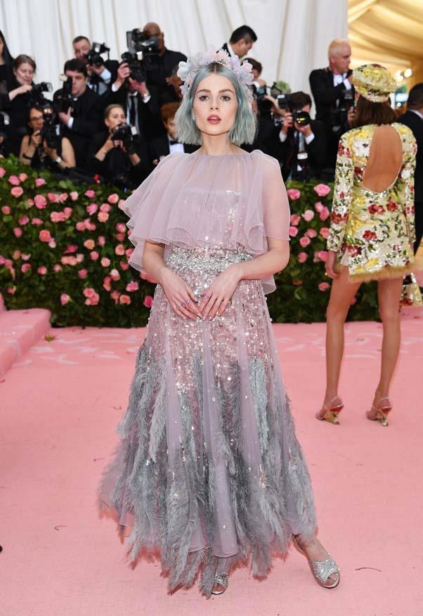 "**Lucy Boynton in Prada** <br><br> ""Such a pretty colour palette – she looks like a pixie dream."" - Caroline Tran, fashion editor"