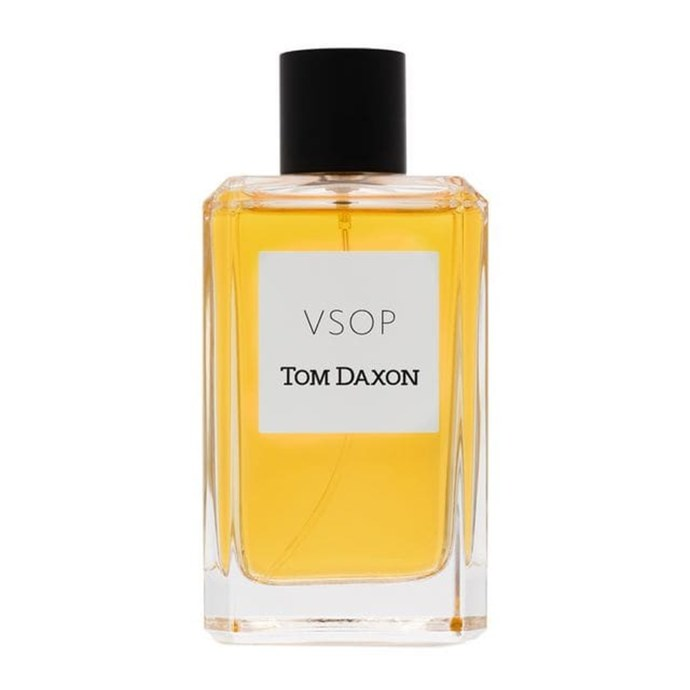 "***Tom Daxon, VSOP 100mL $288, from [Farfetch.com](https://www.farfetch.com/au/shopping/men/tom-daxon-black-and-yellow-vsop-100-ml-fragrance-item-12325572.aspx?storeid=9359&size=17&utm_source=google&utm_medium=cpc&pid=googleadwords_int&af_channel=Search&c=918983756&af_c_id=918983756&af_siteid=&af_keywords=pla-293946777986&af_adset_id=45557549946&af_ad_id=218324503128&is_retargeting=true&foundit=yes&shopping=yes&gclid=EAIaIQobChMI35bjxtiI4gIV2zUrCh09vgjqEAYYASABEgIdRfD_BwE|target=""_blank""