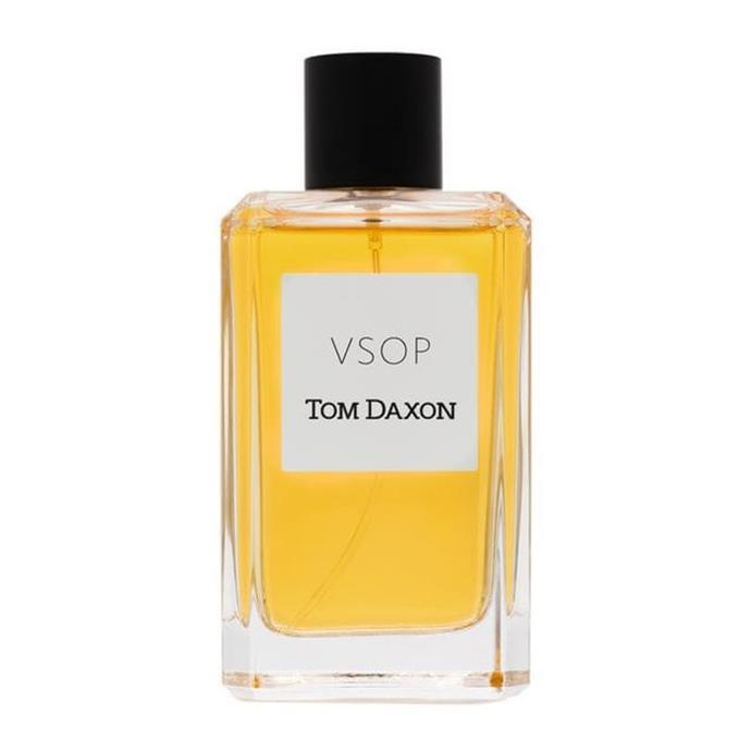 "***Tom Daxon, VSOP 100mL $288, from [Farfetch.com](https://www.farfetch.com/au/shopping/men/tom-daxon-black-and-yellow-vsop-100-ml-fragrance-item-12325572.aspx?storeid=9359&size=17&utm_source=google&utm_medium=cpc&pid=googleadwords_int&af_channel=Search&c=918983756&af_c_id=918983756&af_siteid=&af_keywords=pla-293946777986&af_adset_id=45557549946&af_ad_id=218324503128&is_retargeting=true&foundit=yes&shopping=yes&gclid=EAIaIQobChMI35bjxtiI4gIV2zUrCh09vgjqEAYYASABEgIdRfD_BwE|target=""_blank""|rel=""nofollow"")*** <br><br> VSOP recreates an impossibly seductive setting with the Cognac infused parfum. A green citrus top note melts into a shimmering warm base of spices, woods and musks."