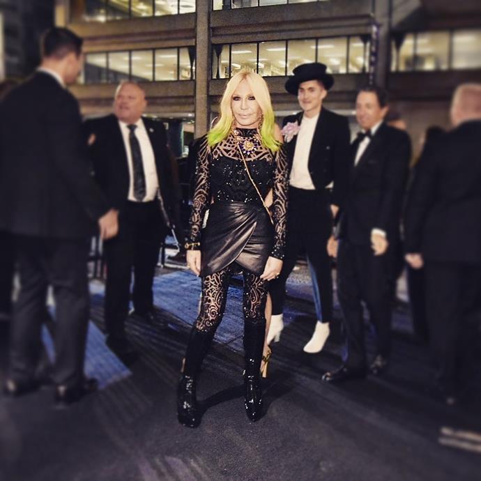 "***Donatella Versace***<br><br>  *Image via [@donatella_versace](https://www.instagram.com/p/BxJddYhgXhk/|target=""_blank""|rel=""nofollow"")*"