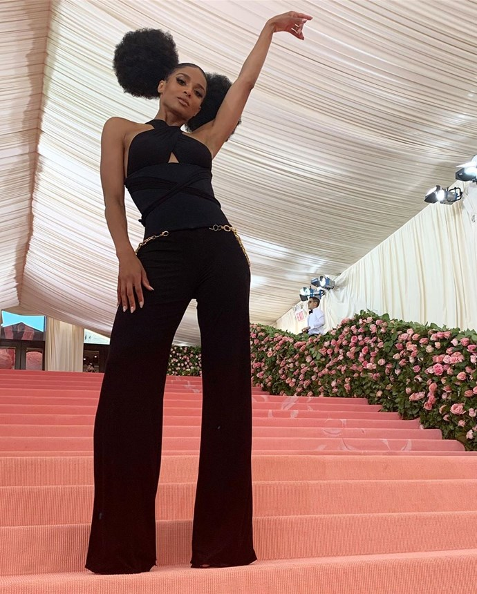 """***Ciara***<br><br>  Stunning in multiple outfits on the red carpet, singer Ciara revealed her first one in an Instagram post with the caption, """"#MetGala Look 1.""""<br><br>  *Image via [@ciara](https://www.instagram.com/p/BxI7kCvH_JI/