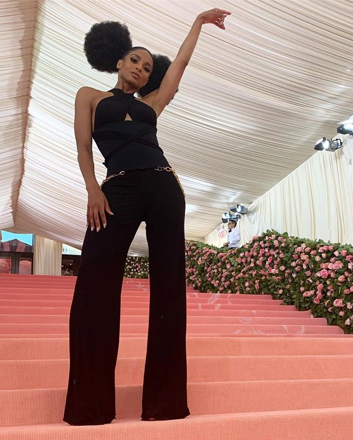 "***Ciara***<br><br>  Stunning in multiple outfits on the red carpet, singer Ciara revealed her first one in an Instagram post with the caption, ""#MetGala Look 1.""<br><br>  *Image via [@ciara](https://www.instagram.com/p/BxI7kCvH_JI/