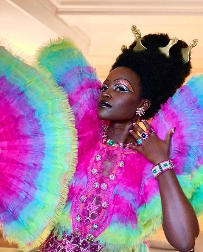 """***Lupita Nyongo'o***<br><br>  Sporting what was undoubtedly one of the [Met Gala's best beauty looks](https://www.elle.com.au/beauty/met-gala-best-beauty-looks-20412