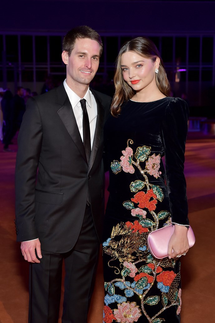 Kerr and her husband, Snapchat founder Evan Spiegel.