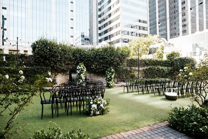 ***On the location:*** The ceremony and reception were both at Lamont's Bishops House, Perth, Western Australia.
