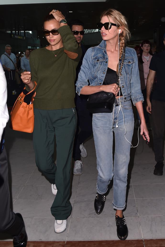 Irina Shayk and Stella Maxwell