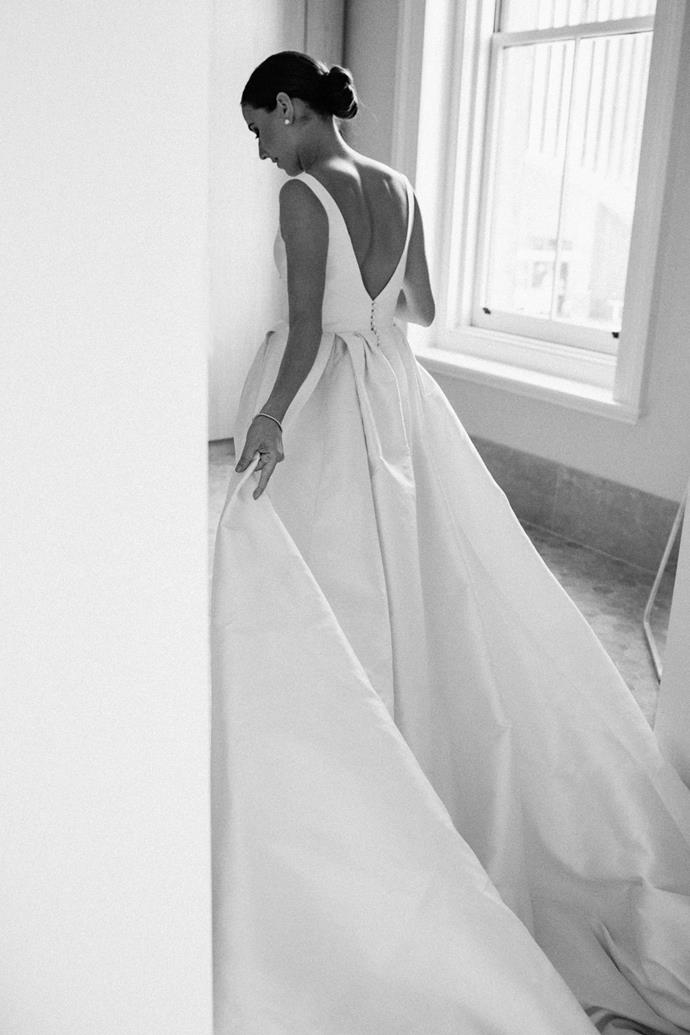 ***On finding the dress:*** I knew exactly what I didn't want, which lead me to my dream dress. I was not interested in travelling interstate or overseas to buy a dress. I also did not want to blow the bank or have it be made of synthetic materials. This left me with designing my dress at Donna Tobin Couture. My mum was amazing with helping me with the details, material, structure and technical aspects of the dress.