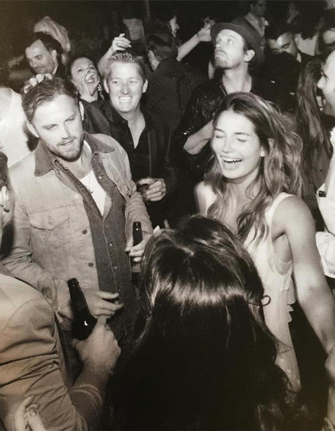 """""""Can't wait to dance the night away with my best friend!!! Happy Birthday Caleb @tn_rooster ❤️❤️❤️ #weddingparty2011 #PartyTime,"""" Aldridge captioned this throwback shot in honour of Followill's birthday."""