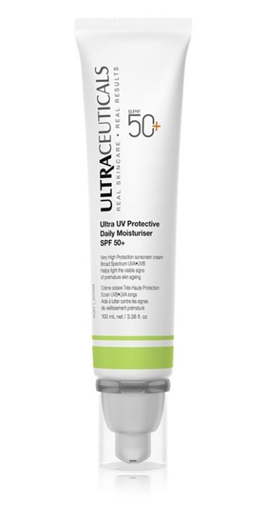 """Ultraceuticals Ultra UV Protective Daily Moisturiser SPF50, $79 at [Ultraceuticals](https://www.ultraceuticals.com/au/ultra-uv-protective-daily-moisturiser-spf50.html target=""""_blank"""" rel=""""nofollow"""")"""