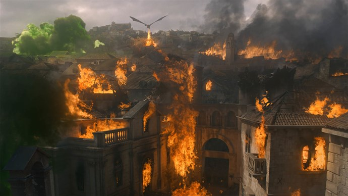 **EVERYONE IN KING'S LANDING: DEAD** <br><br> Cause of death? Daenerys and Drogon.