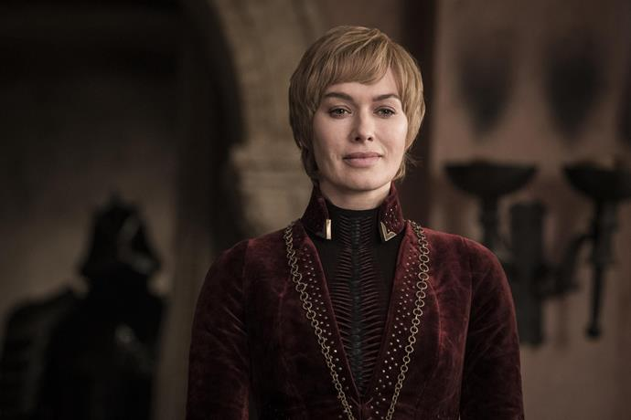 **CERSEI LANNISTER: DEAD** <br><br> Cause of death? Crushed by rubble, dying in her brother Jaime's arms.