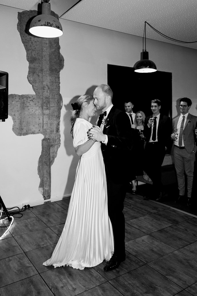 **On the first dance song:** Our first dance was to 'This Will Be' by Natalie Cole, we wanted a big band experience. It wasn't rehearsed, that's not our thing, we wanted it to be full of fun, and it's the small mistakes they caught on camera that make the memory so endearing