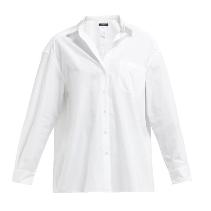 """***A button-up shirt***<br><br> The ultimate slip-on-and-go piece, a crisp white shirt is a must. Unbuttoned over a bikini, tucked into a skirt, or over a pair of jeans, it's versatile enough to earn its place in your 24 kgs.<br><br> Shirt by Weekend Max Mara, $294 at [MATCHESFASHION.COM](https://www.matchesfashion.com/products/Weekend-Max-Mara-Lampara-shirt-1263731