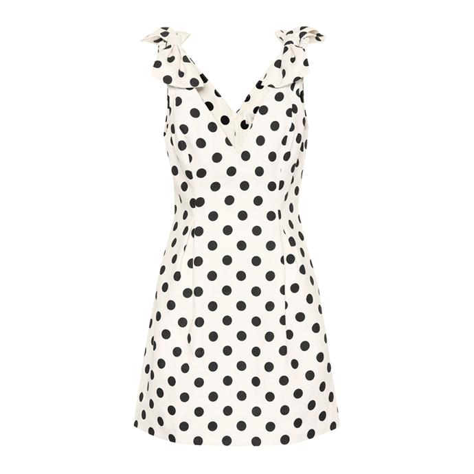 """***A party dress***<br><br> For days when shorts and shirt won't cut it, having a secret party dress stashed away in your luggage will be a godsend. Bring up the hem and opt for a fun print to liven things up.<br><br> Dress by Zimmermann, $1,075 at [My Theresa](https://www.mytheresa.com/en-au/zimmermann-corsage-dotted-linen-dress-1104997.html?catref=category
