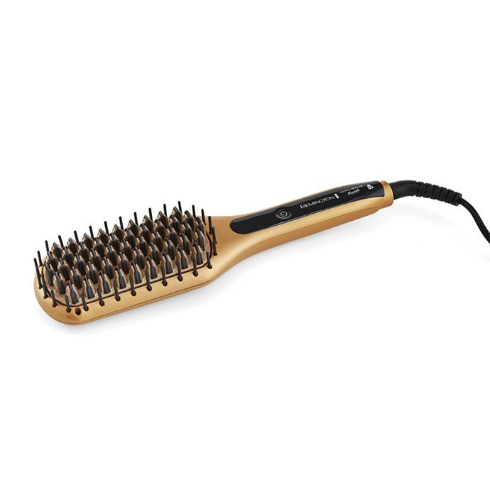 "**Keratin & Argan Oil Nourish Straightening Brush by Remington, $79.95 at [Myer](https://fave.co/35x0hSi|target=""_blank""