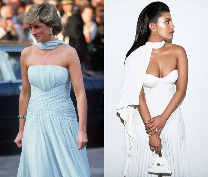 Diana, Princess of Wales, and Priyanka Chopra Jonas.