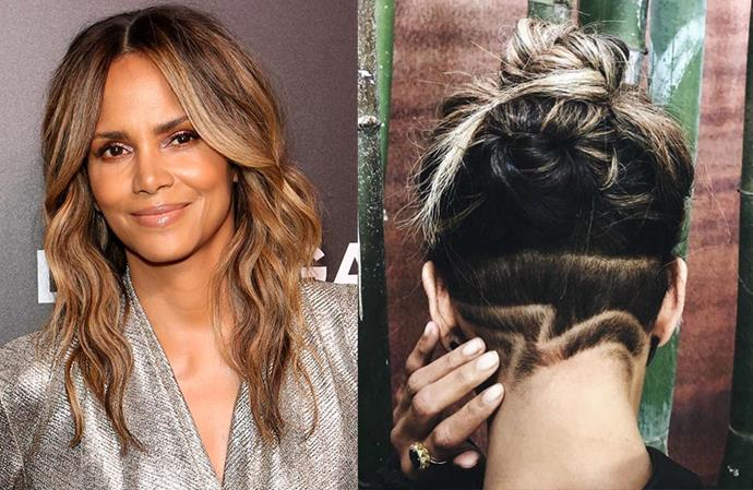 **Halle Berry** <br><br> While the actress has dabbled in short hair in the past, she's had long tresses for quite some time. Thus, when she unveiled a dramatic undercut on her hairdresser Sara Seward's Instagram, it caught us by surprise. The statement buzz cut featured a wave-like detail, with Berry's longer strands dyed an ashy blonde balayage.