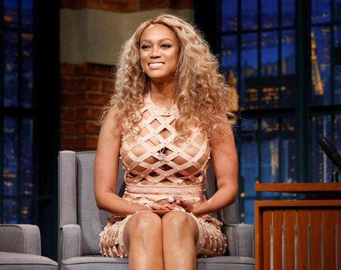 """**Tyra Banks** <br><br> In her book, Banks revealed she had a nose job in the interest of promoting women not judging one another for cosmetic enhancement. """"I had bones in my nose that were growing and itching,"""" she wrote. """"I could breathe fine, but I added cosmetic surgery. I admit it! Fake hair, and I did my nose. I feel I have a responsibility to tell the truth."""""""