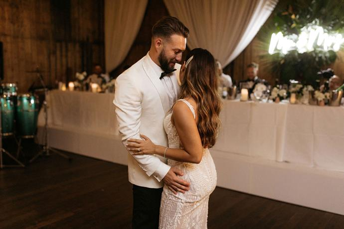**On the first dance song:** We danced to the 'So In To You' cover by Childish Gambino. Slightly choreographed (Maree has professionally danced since she was 3!), it was more so about taking in the moment and enjoying 'our song' together.