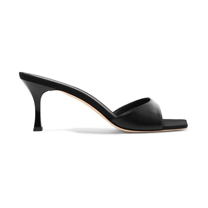 """Mules by Giuseppe Zanotti, $459 at [NET-A-PORTER](https://www.net-a-porter.com/au/en/product/1106601/Giuseppe_Zanotti/dem-leather-mules