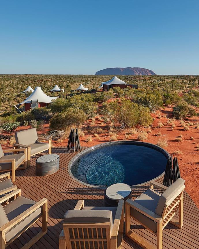 """***Longitude131, Yulara, Northern Territory***<br><br>  Bored of beaches and sick of the city? An outback escape is sure to do the trick. Northern Territory's Longitude131 provides the perfect getaway with a luxury lodge overlooking Australia's best-known natural icon, Uluru.<br><br>  *To make a reservation, [click here](https://longitude131.com.au/destination/