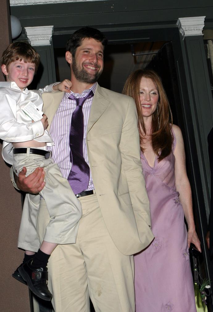 **Julianne Moore:** The actress wore a lilac Prada slip dress when marrying husband Bart Freundlich in 2003.