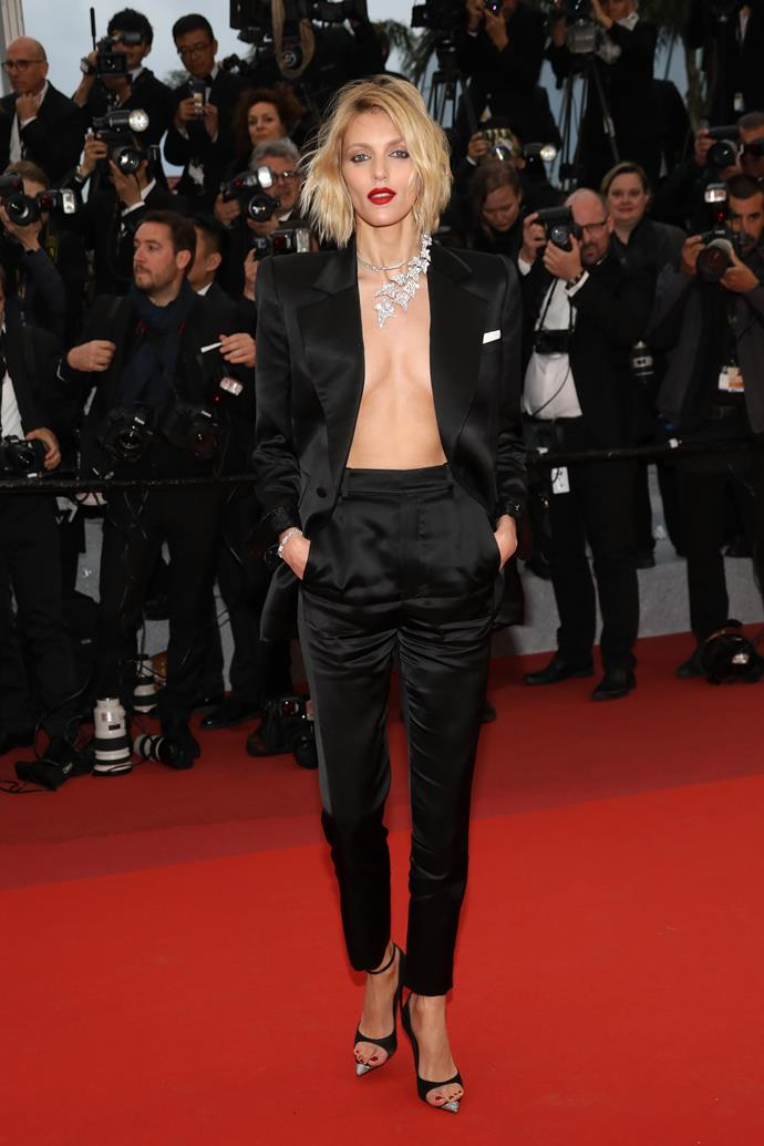 "***Anja Rubik in Saint Laurent***<br><br> ""Anja Rubik in Saint Laurent—sans shirt, dripping in diamonds—was my best-dressed. In a sea of frou-frou tulle and 'naked' gowns she offered a different definition of 'sexy' and looked the epitome of cool."" Grace O'Neill, fashion features director.<br><br> ""I didn't know a shirt could be optional for a black-tie event until Anja Rubik showed me."" Samantha Wong, market editor."