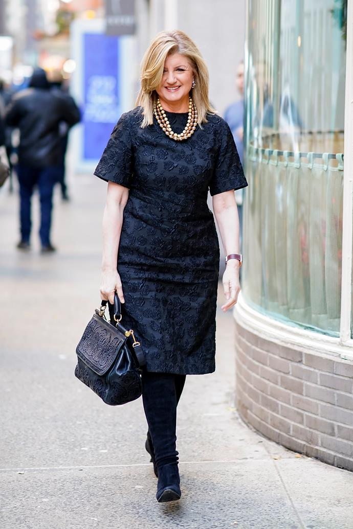 "***Arianna Huffington***<br><br>  The founder of *Huffington Post* and *Thrive*, Ariana is one founder who swears by uniform dressing, and has even gone so far as to [advocate](https://www.today.com/style/arianna-huffington-urges-women-repeat-outfits-work-t117370|target=""_blank""