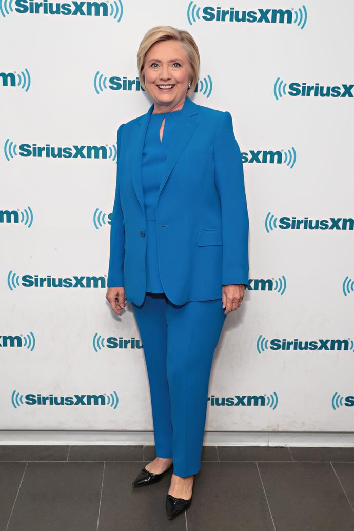 "***Hilary Clinton***<br><br>  Always a fan of the power suit, the former US Secretary of State used to step out on numerous important occasions in varying shades of the same tailored pantsuit.<br><br>   In her book *What Happened*, a recount of her experiences as the Democratic Party's nominee and general election candidate for 2016 presidency of the United States, Clinton [wrote](https://www.cnbc.com/2017/09/14/hillary-clinton-discusses-why-she-wears-pantsuits-in-what-happened.html|target=""_blank""