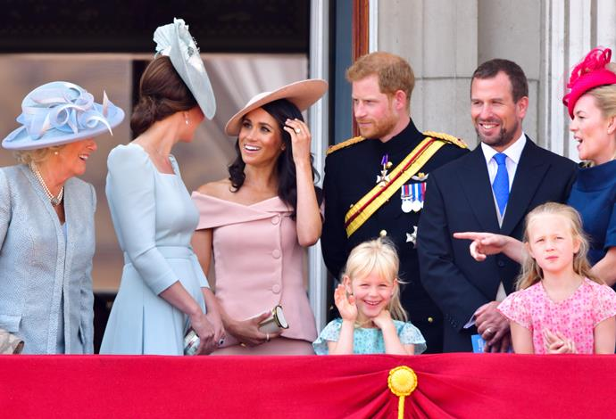 The royals at the 2018 Trooping of the Colour.