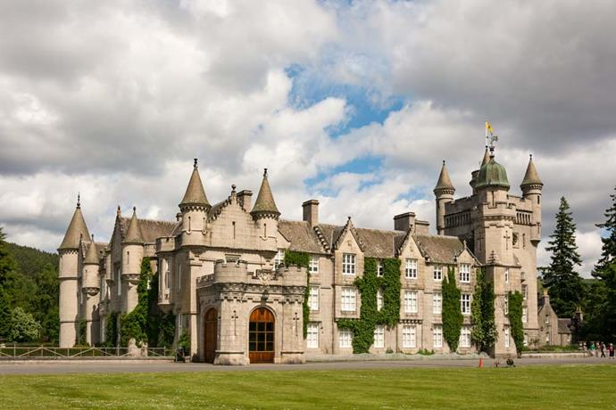 **The Property:** Balmoral Castle.<br><br> **The Location:** Aberdeenshire, Scotland.<br><br> **The History:** Originally purchased by Queen Victoria, Balmoral is a huge Scottish estate owned by Queen Elizabeth, who lives there from August to September.<br><br> **Who Lives There:** The Queen and the Duke of Edinburgh.