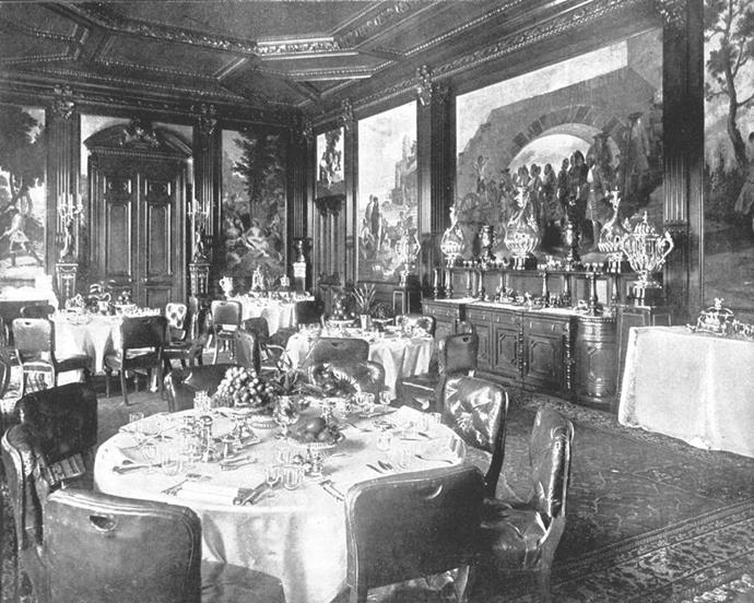 Inside Sandringham House.