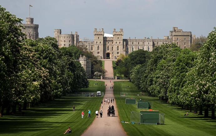 **The Property:** Windsor Castle.<br><br> **The Location:** Windsor, Berkshire, England.<br><br> **The History:** The Queen's official country residence, this ancient castle boasts over 1,000 rooms and several more offices and ballrooms. The Queen often travels to spend the weekend at the castle, which also hosts several weddings and christenings. <br><br> **Who Lives There:** The Queen and the Duke of Edinburgh.